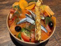 Salade de saumon mariné